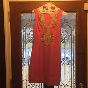 Bright pink Lilly event dress